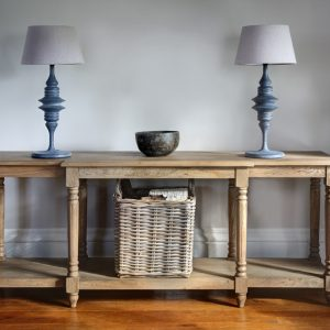 Weathered oak console sideboard