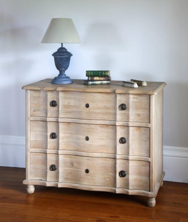 French weathered oak Claude chest of drawers