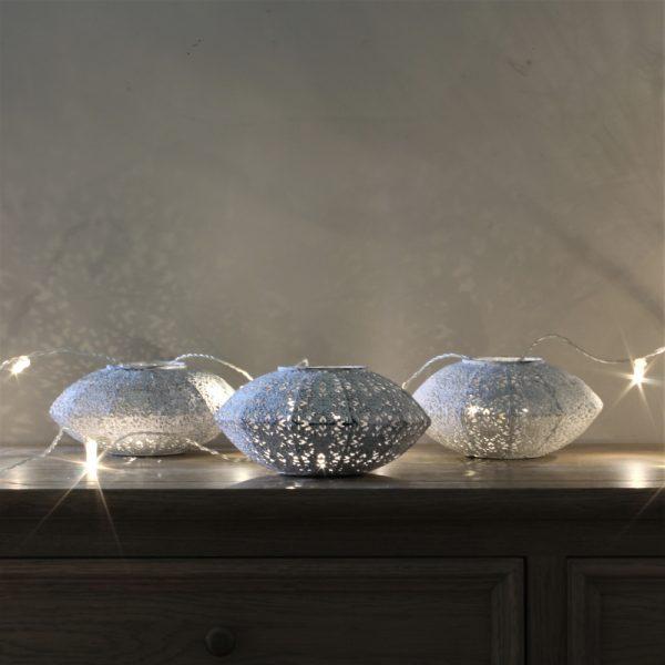 3 filigree lanterns