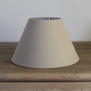 Lamp shade in plain cream