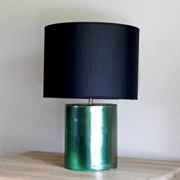 Green cylindrical lamp base