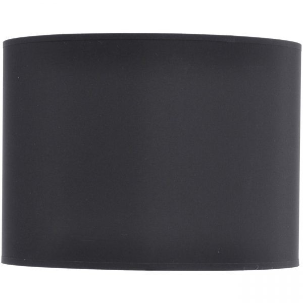 """Drum 16"""" shade in black with silver lining"""