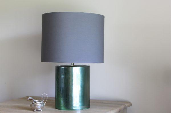 Emerald Green ceramic lamp