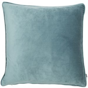Powder Blue Velvet Square cushion