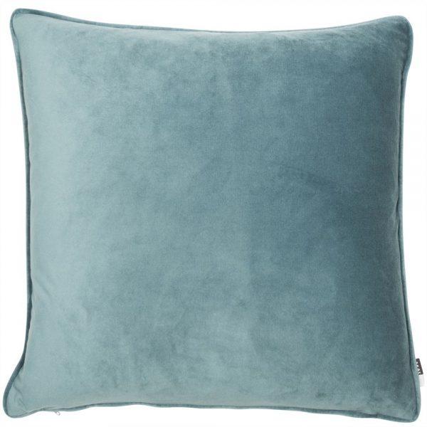 Powder Blue Velvet Square cushion