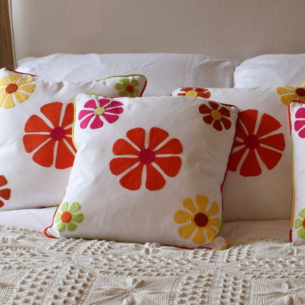 Orange Applique cushions