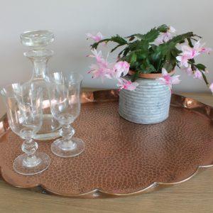 Vintage copper tray