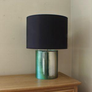 Green cylindrical lamp