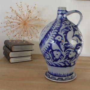 Vintage Blue Bavarian Pot
