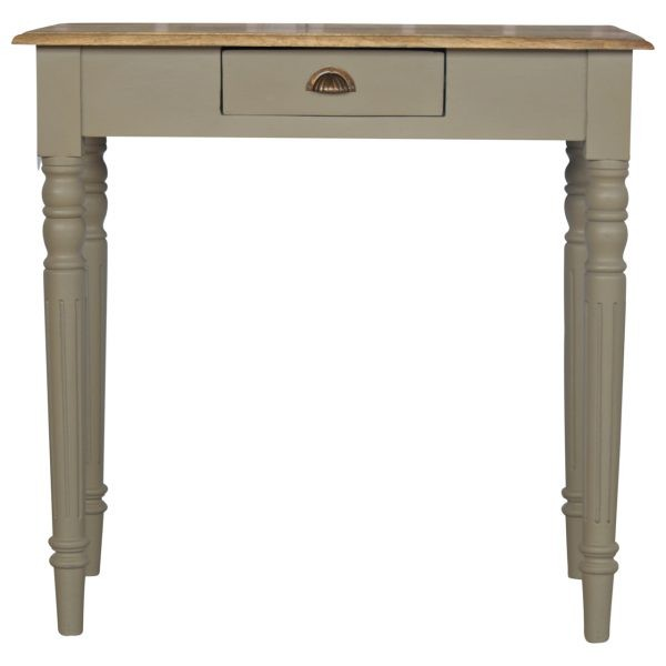Grey painted writring desk