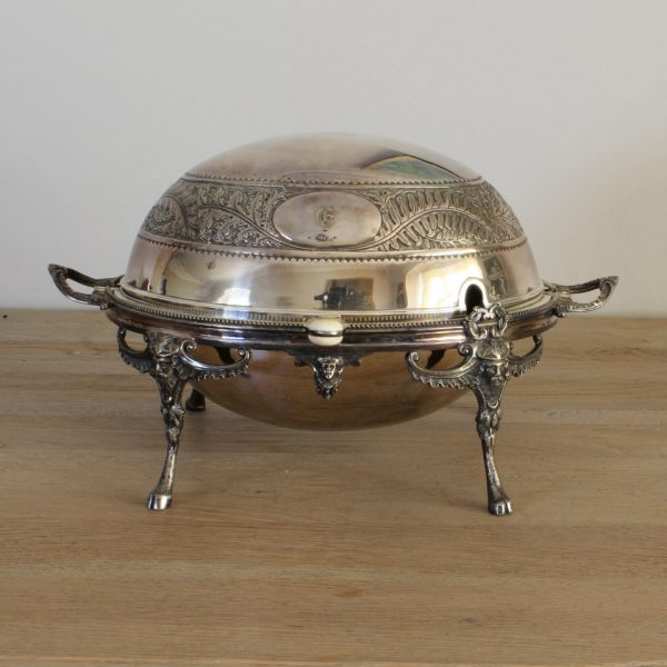Silver plated revolving serving dish